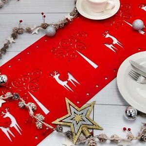 Celebright Christmas Dinner Table Runners, Mats, Cutlery Holders & Napkin Rings