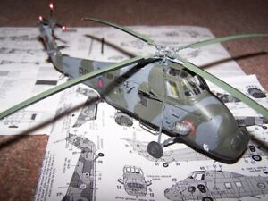 1:72 British Royal Navy Wessex Hu-5 Helicopter Model Assembled Aircraft