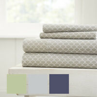 The Home Collection - Hotel Luxury Scallops Pattern 4 Piece Bed Sheet Set