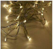 10 X 10er LED Lichterkette Warmweiß Lichter Batterie Betrieb Deko Leuchte