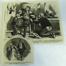 1882 magazine engraving ~ THE KINGS DAUGHTER, Ribbon of the cross of the Garter