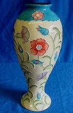 "OLD TUPTON WARE SECRET GARDEN TUBELINED PORCELAIN ART NOUVEAU 11"" HOUR VASE 8002"