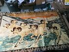 """Vintage Mountain Goats  on the Wall Tapestry LG 73"""" x 49"""" Cabin Lodge Art"""
