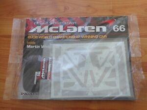 1/8 DEAGOSTINI BUILD YOUR OWN MCLAREN MP4/23 LEWIS HAMILTON 2008 F1 CAR ISSUE 66