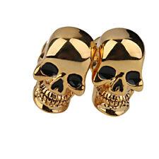 Copper Skull Head Bone Skeleton Cufflinks Cuff Links Mens Boys Jewelry Gold