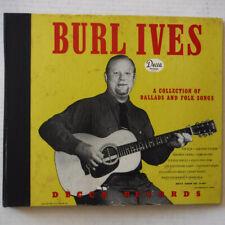 BURL IVES - 10 INCH DISC 78 RPM RECORD ALBUM  - DECCA RECORDS A-407