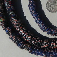 27 inch strand old antique venetian aja ayja fancy beads african trade #1836