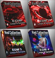EDM 1-4 Epic Bundle Ultimate RED Collection  All EDM Packs WAV Samples and Loops