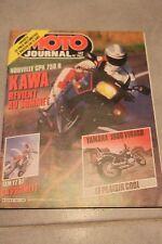 MOTO JOURNAL N°767 KAWASAKI GPX 750 R YAMAHA XV 1000 VIRAGO YZ 125 & 250 1986