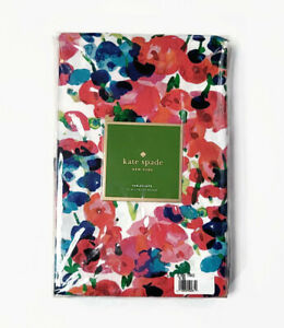 """Kate Spade New York Tablecloth Rosa Terrace 100% Cotton 70"""" Round Multi-Floral"""
