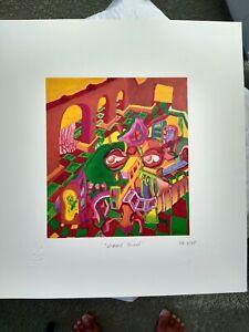 "Jerry Garcia LTD. Ed Print "" Lizard Board "" Grateful Dead COA DB Artworks RARE"