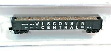 ROUNDHOUSE N SCALE ~ 50' MILL GONDOLA W/LOAD ~ WISCONSIN CENTRAL ~  WC 54306