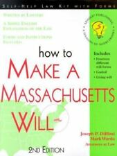 How to Make a Massachussetts Will (How to Make a Massachusetts Will)-ExLibrary