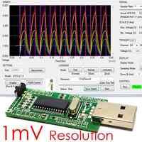 iCP12 (1mV) - usbStick (PC USB Oscilloscope, DAQ, Logger, PIC18F2553 IO Board)
