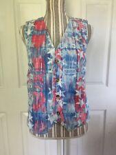 Vivaldi Jeanswear Womens July 4th Denim USA Flag Vest Size M A-5