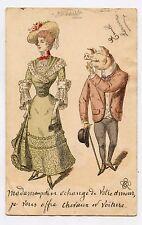 Le cochon drague une mondaine . Prostituée . Pig seduces a prostitute EROTIC