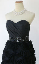 New Jovani Strapless Formal Cruise Summer $500 Dress Size 0 Bubble Prom Black