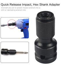 1/2 WRENCH TO 1/4 ADAPTER DRIVE HEX SHANK SOCKET CONVERTER TUNGSTEN TOOL KIND