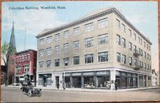 Westfield, MA 1915 Postcard: Columbus Building - Massachusetts Mass