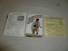 VINTAGE MICKEY MANTLE SIGNED AUTOGRAPHED BOOK W LETTER OF AUTHENTICITY JSA AUTO