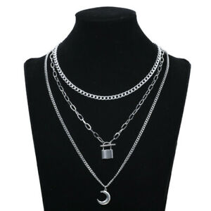 Stainless Steel Aesthetic Chain Around The Neck Choker Pendant Necklace Jewelry