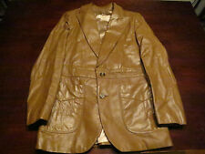Vtg Mens Lakeland Leather Jacket Coat Sz 38 Blazer Fight Club Motorcycle Rocker