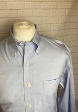 "Brooks Brothers Shirt Blue 16.5"" - 35"" NON IRON Classic Button Cuff"
