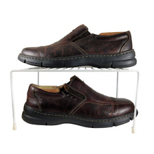Clarks XTR Lite Loafer Mens Sz 8.5M Brown Leather Comfort Casual Shoe FAST SHIP!
