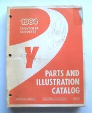 1984 CHEVROLET CORVETTE ORIGINAL DEALER PARTS & ILLUSTRATION CATALOG  NICE! 6/84