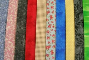 """10 JELLY ROLL STRIPS MULTI COLOUR  44"""" X 2.5""""  100% COTTON PATCHWORK/QUILT JUL"""