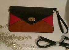 Damentasche Tasche Clutch Abendtasche Damen Handtasche Lack Schwarz Rot Braun