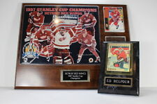 Detroit Red Wings 1997 NHL Stanley Cup Champions Plaque + Ed Belfour Card Plaque