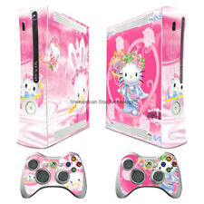 Pink Kitty Magic Cat decal Sticker Skin cover case for xbox360 Console wy22