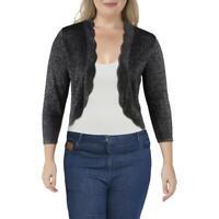 Ronni Nicole Womens Cropped Sparkly Bolero Shrug Sweater Cardigan BHFO 3674