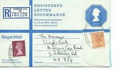 "GB - REGISTERED ENVELOPE - SIZE G - £1.16 - LONDON EC ""B"" - 781228"