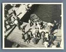 Tunisie, Bizerte ( بَنزَرِتْ ), Scène dans le Port  Vintage silver print.  T