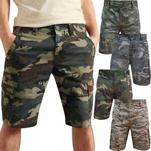 New Mens Airwalk Cargo Camo Shorts Cotton Summer Casual Work Pant Combat Chino