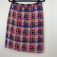 J. Crew Women's ' Office Pretty ' Blue Plaid Pencil Skirt SIZE 4