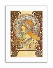 ALPHONSE MUCHA ZODIAC 1896 Poster Painting Old Master Canvas art Prints