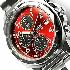 SEIKO Chronograph RED Men's Watch SND495P Free Shipping  JAPAN With Tracking