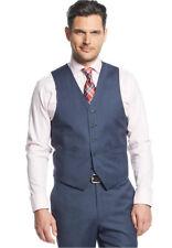 $150 MICHAEL KORS men BLUE STRIPED FIT WOOL DRESS SUIT VEST WAISTCOAT 36 S