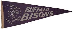"""Vintage Buffalo Bisons Felt Pennant - 24"""""""