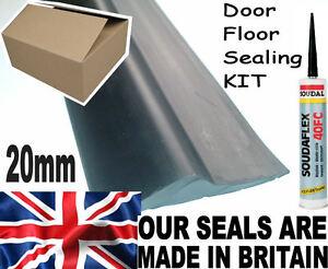 GARAGE DOOR HEAVY DUTY FLOOR MOUNT 20mm THRESHOLD WEATHER SEAL DRAUGHT EXCLUDER