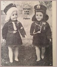 Brownie & Girl Guide Uniforms Hat Doll's Clothes Vintage Knitting PATTERN A80