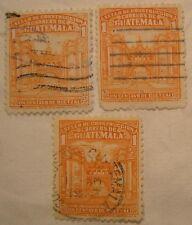 Guatemala Stamp 1943 Scott RA21 PT4  Set of 3