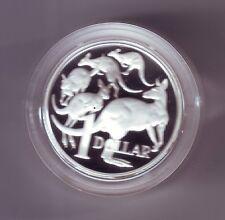 2004  SILVER Proof $1 Australia Kangaroo Coin  ex Fine Silver Set