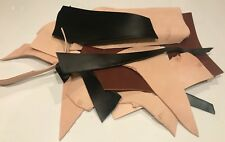 5 Lbs. veg tanned scrap leather 8 to 10oz veg tan remnants BLK/BROWN/NATURAL