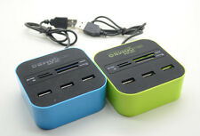 NEW USB3.0 3 Ports Card Readers Combo Hubs for MS/MS PRO DUO/MMC/M2/Micro