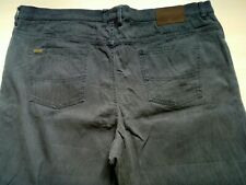 Mens Grey Striped Straight Leg Jeans W 42'' L 32''