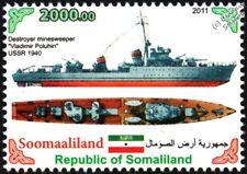 1940 VLADIMIR POLUKHIN Destroyer Minesweeper WWII Soviet/Russian Warship Stamp
